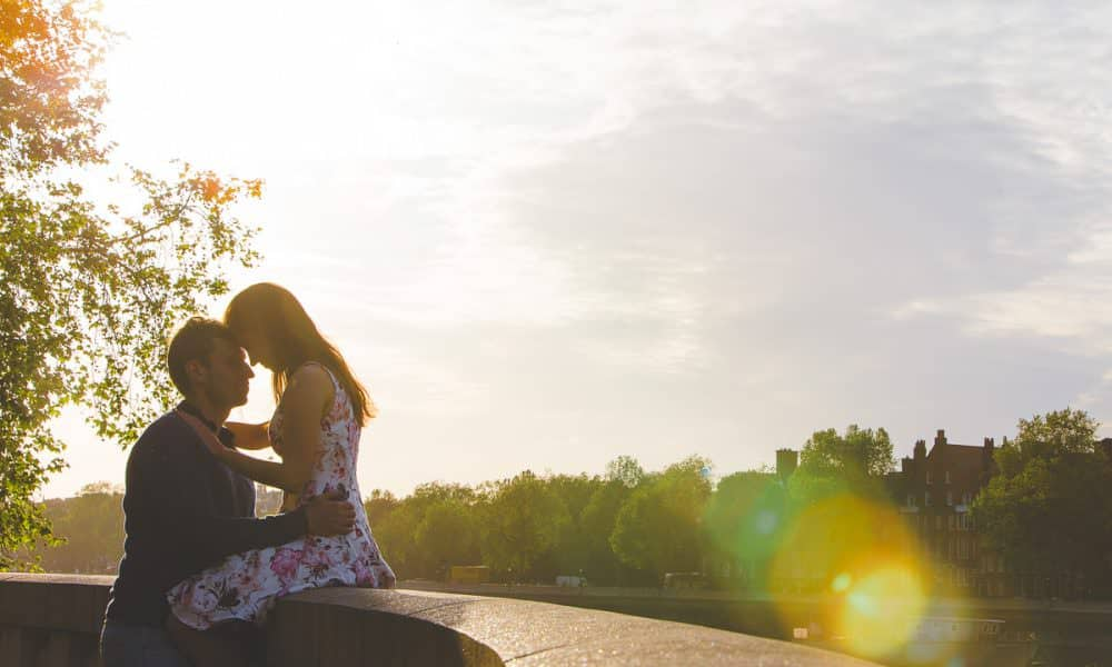 Katy + Tim's Battersea Park Engagement Shoot