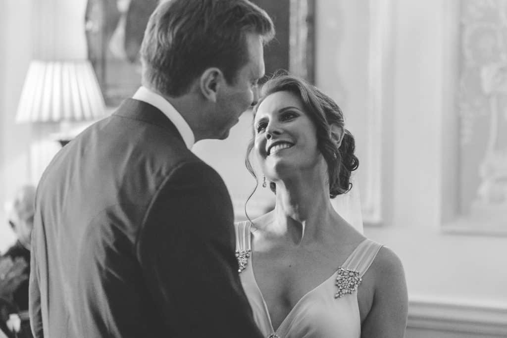 Bride looking at her husband with adoration