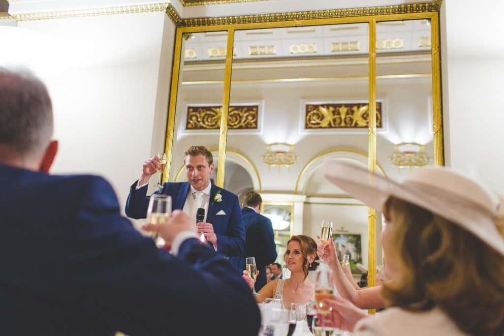 Grooms toast at Lansdowne Club