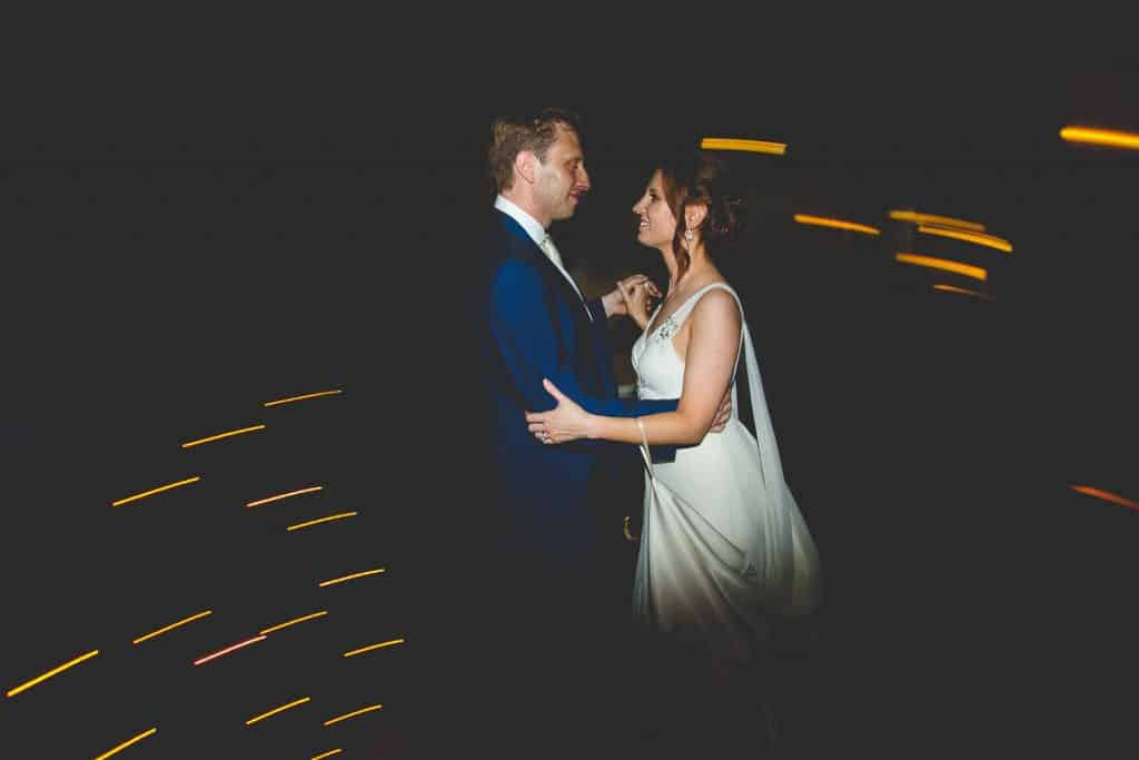 Bride and grooms first dance at Lansdowne wedding club