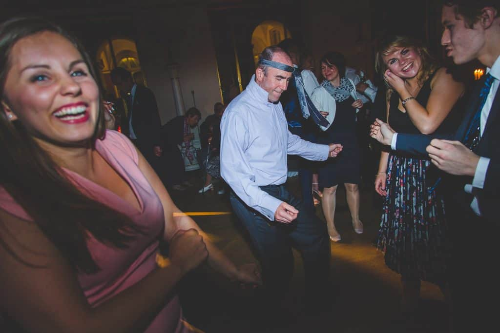 Fun dance moves with tie on head at Lansdowne Club